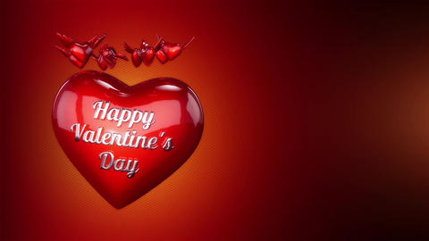 Hearts and Angel Wings Background Animation for Valentines Day and Wedding Animation