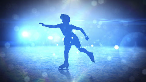 Girl on figure skates Animation