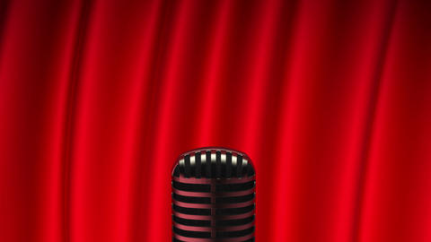 Cameras flash lights to the speaker on stage Stock Video Footage