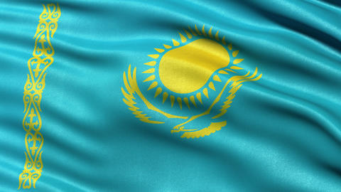 4K Kazakhstan flag seamless loop Ultra-HD Animation