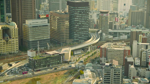Close Up View Of The Busy Life Of Osaka, Japan stock footage
