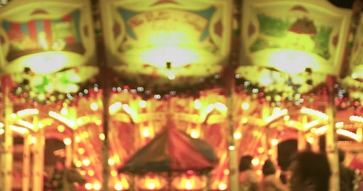 Merry Go Round Lights Up The Night Live Action