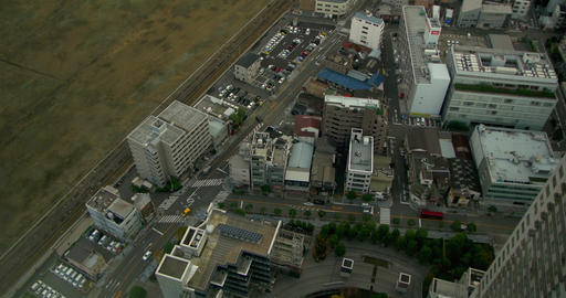 High Shot of Osaka Skyline Japan Footage