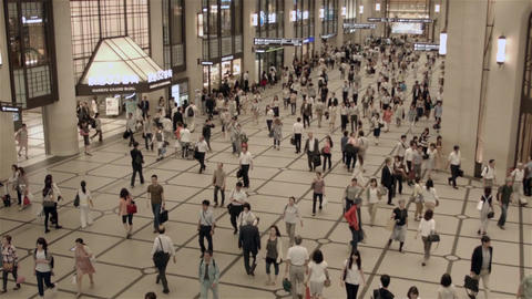 People walking through a shopping mall in Japan Footage