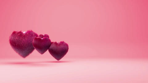 Hairy Hearts Background Animation for Valentines Day and Wedding Animation