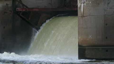 The Flow of Water And Dike Footage