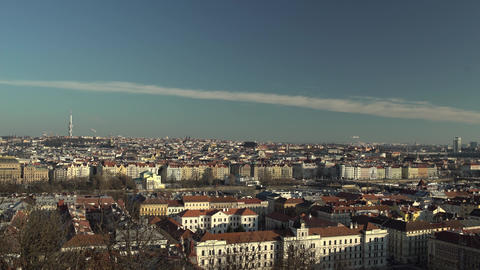 Panorama Of Prague, Czech Republic, On A Sunny Day stock footage