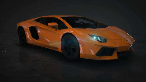 Lamborghini Aventador 360° HD Motion Background Stock Video Footage