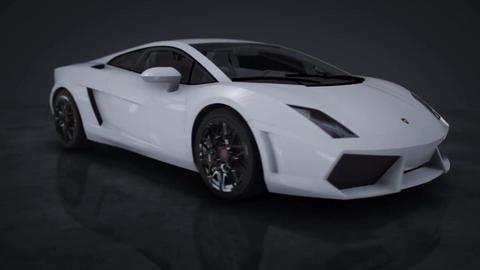 Lamborghini Gallardo 360° HD Motion Background Stock Video Footage