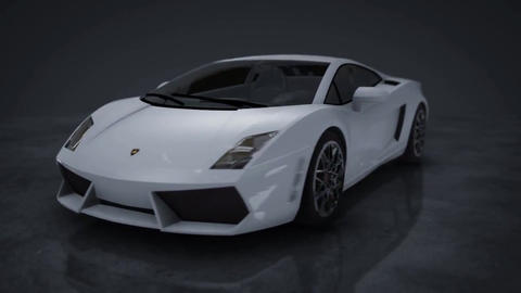 Lamborghini Gallardo 360° HD Motion Background Animation