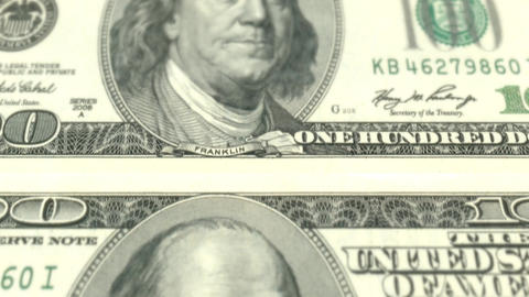 US dollar bill banknote green money cash banking finance currency Footage