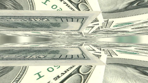 Bank banking US dollar bill banknote green money cash banking finance currency Footage