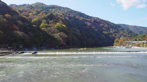 Arashiyama river time-lapse Kyoto, Japan ライブ動画