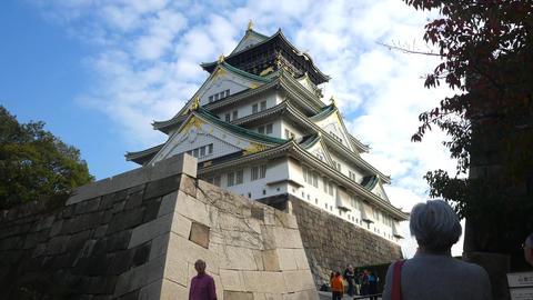 Osaka Castle Time Lapse ビデオ