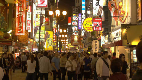 Crowds walk through famous tourist Location in Japan Time-lapse Footage