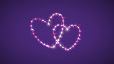 hearts pink star background Animation