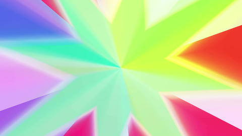 Colors spectrum with star shape 4K Animation