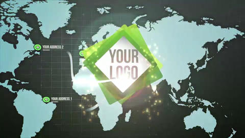 Logo Map Pins After Effects Template