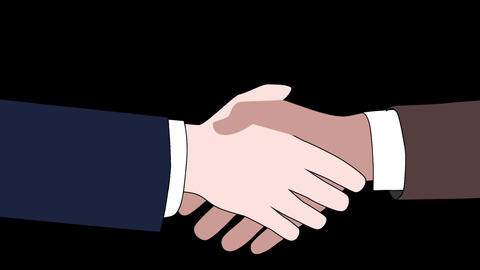 handshaking animation CG動画素材