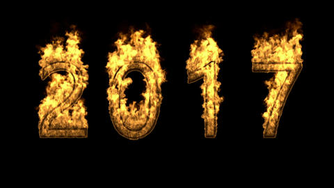 2017 on fire Animation