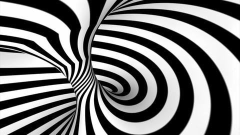 Abstract swirl or twirl in black and white Animación