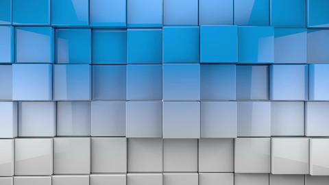 Blue shiny cubes backgound Animation