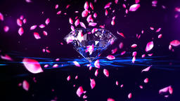 Diamond rose petals Animation