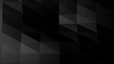 Low polygon black abstract background Animation