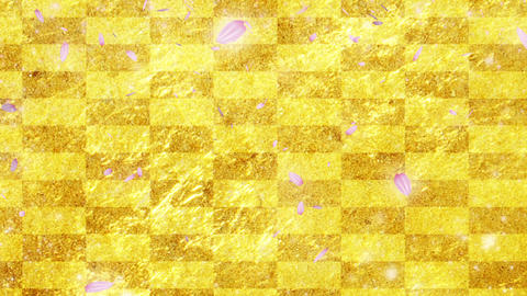 Gold cherry background CG Animation