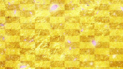 Gold cherry background CG CG動画素材
