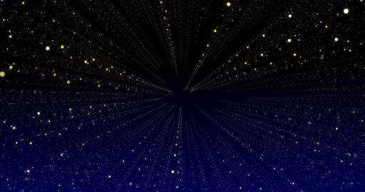 moving glittering stars on blue background Animation