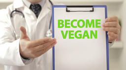 Doctor advice patient to become vegan Footage