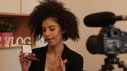 Fashion stylist explainer DIY video with dslr and gunmic Footage