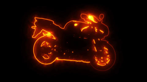 Shining Race Bike Motorcycle Animation Logo Graphic Element Animation