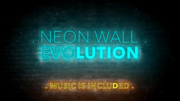 Neon Wall Evolution - After Effects Template After Effects Template