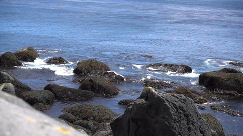 Sea Waves Break up on Rocks Footage