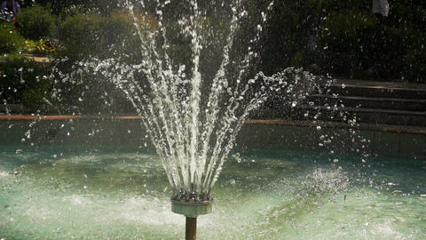 Water Stream Pouring From Fountain Footage