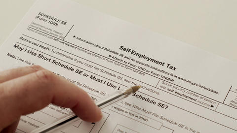 IRS Form 1040 Schedule SE Self Employment Tax Live Action