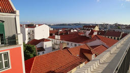 Balcony scenic view of Lisbon Footage