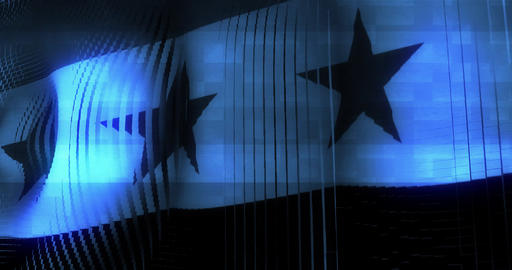 Futuristic Glitching Syria flag waving in computer... Stock Video Footage