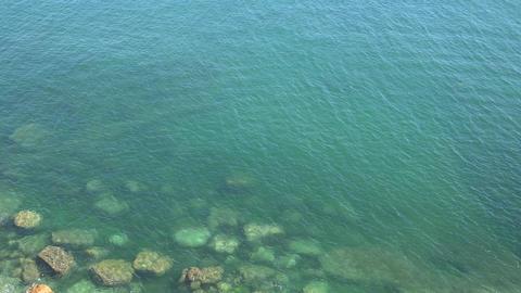 Underwater Rocks At Shore Footage