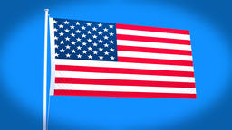 the national flag of United States CG動画