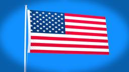 the national flag of United States Animation