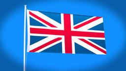 the national flag of Britain Animation