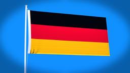 the national flag of German CG動画