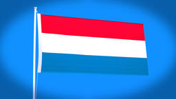 the national flag of Holland Animation