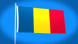 the national flag of Romania Animation