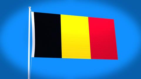 the national flag of Belgium CG動画