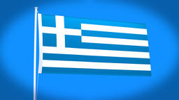 the national flag of Greece Animation