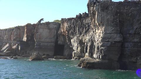Cliffs Or Bluffs Along Water Live Action